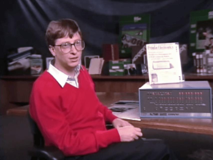 ビル・ゲイツが世界最初のマイコン(アルテア)を紹介するビデオ《1994年》