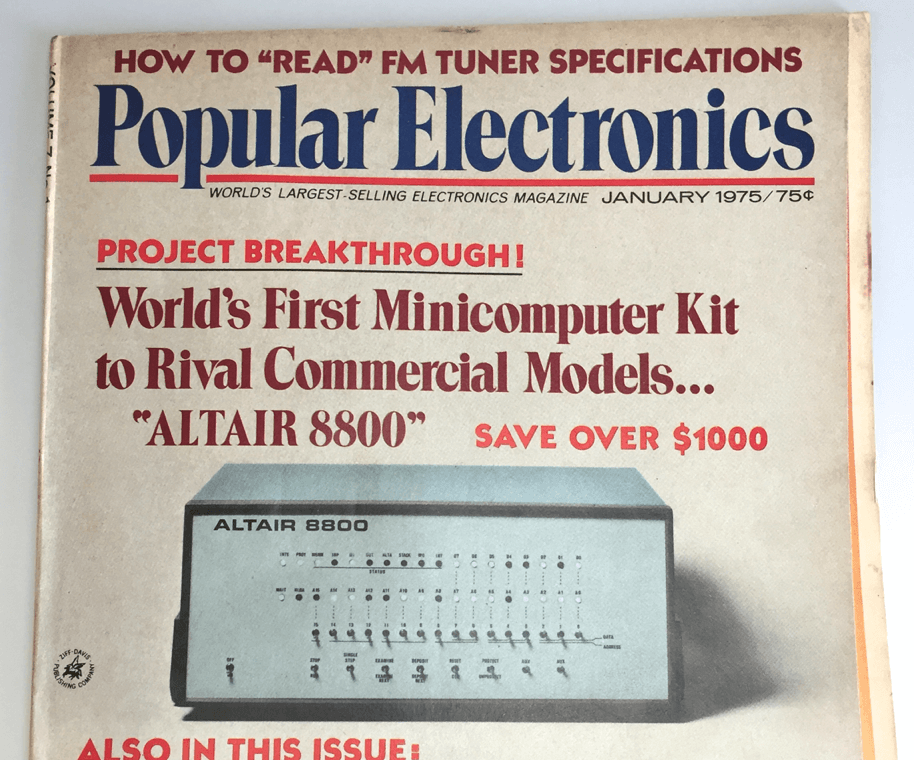 ビル・ゲイツやウォズを魅了した最初のマイコン – 1975年1月号のエレクトロニクス誌で発表《コンピュータの歴史シリーズ創刊ページ》